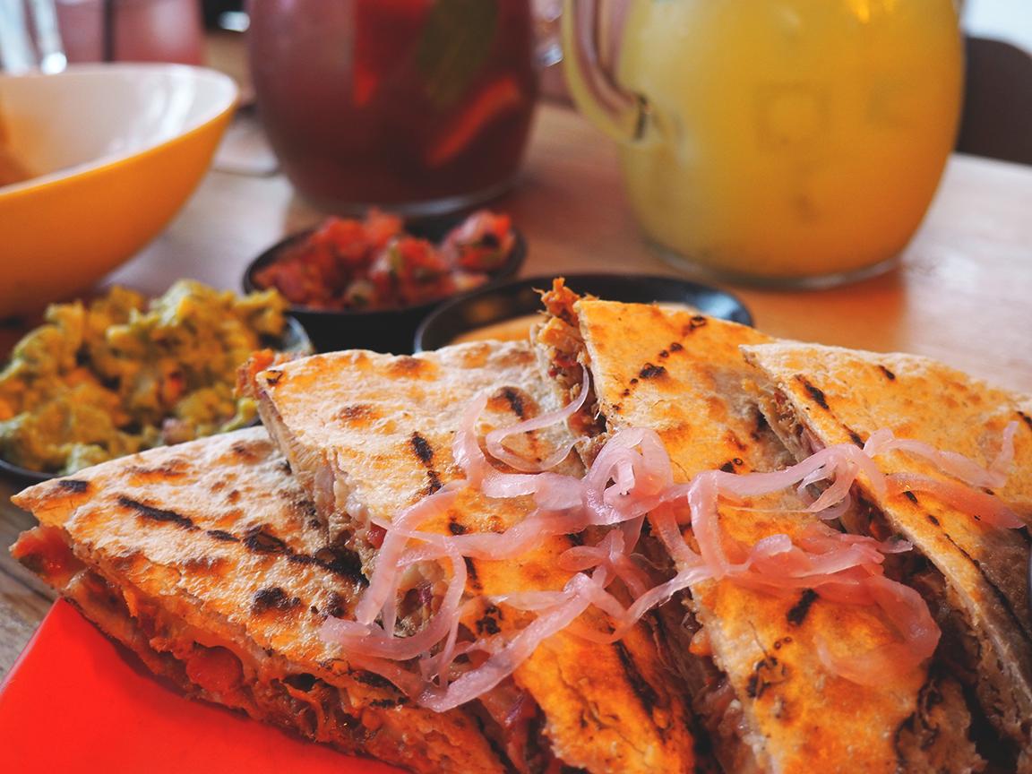 Fonda Mexican Hawthorn Blog Review - mexico city pork quesadilla