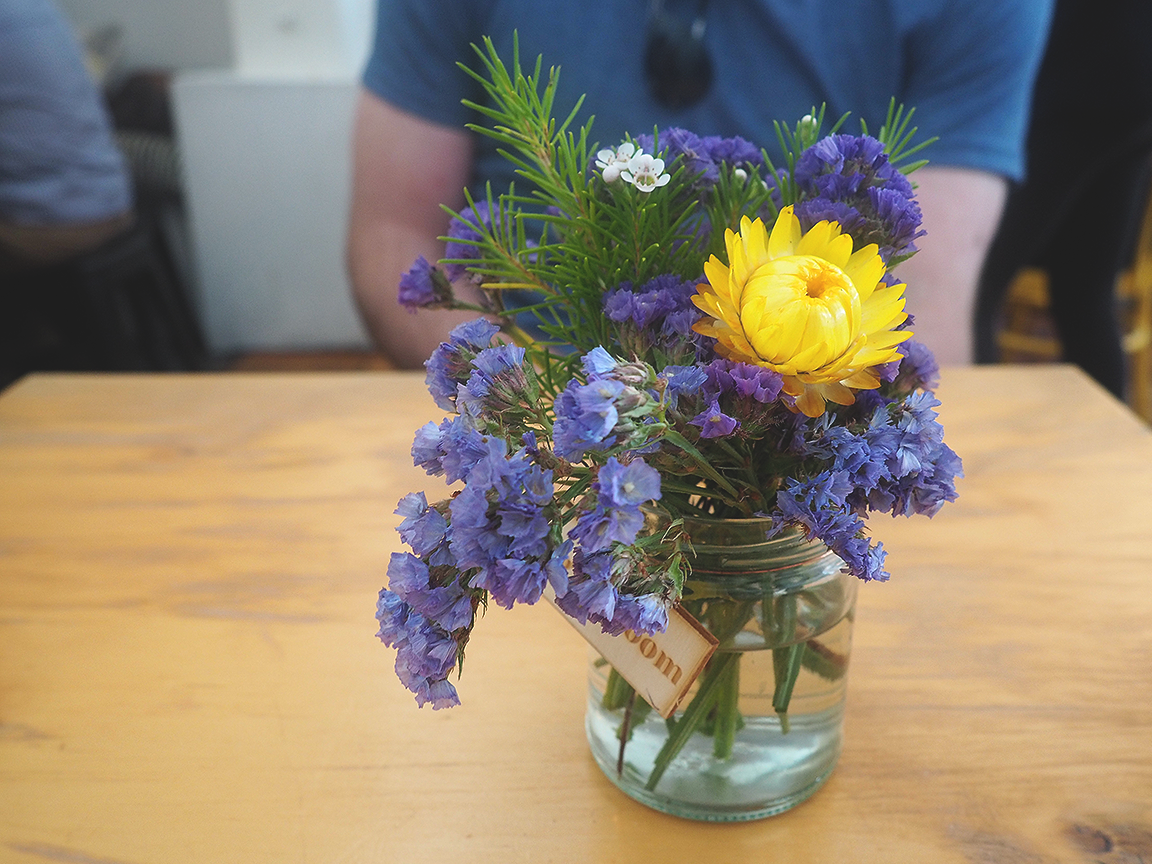 Muharam Cafe Blog Review Hawthorn - fresh flowers