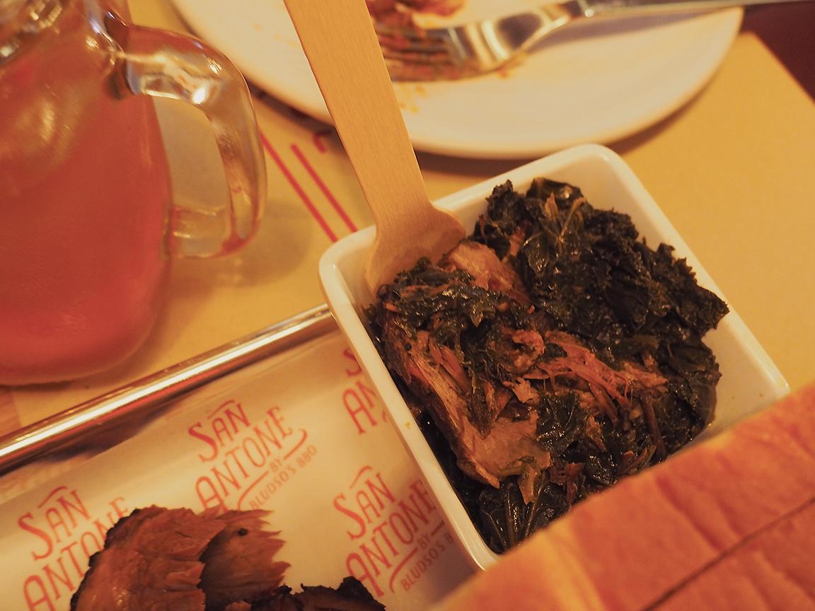 San Antone by Bludso's BBQ - Blog Review greens