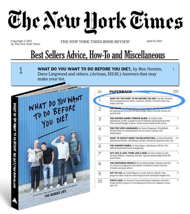 #19: WRITE A #1 NEW YORK TIMES BESTSELLER
