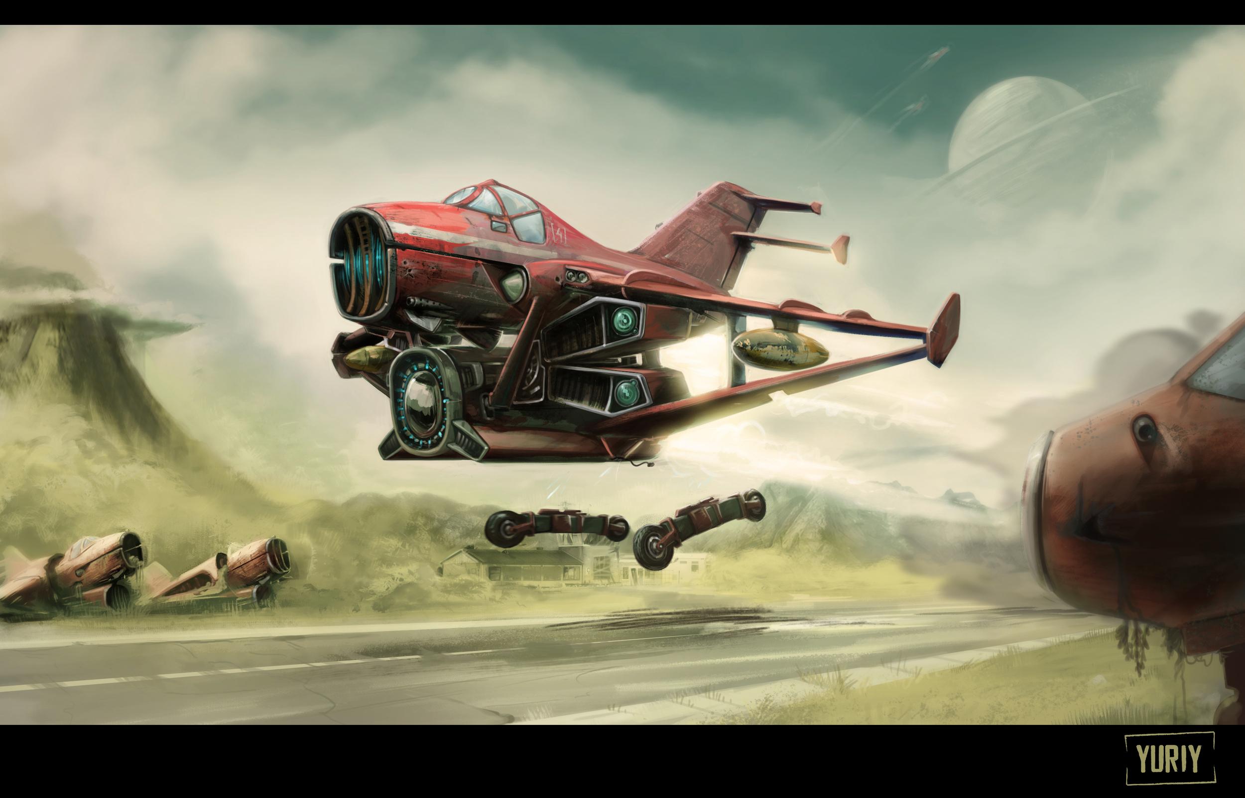 Rocket-Powered Aircraft