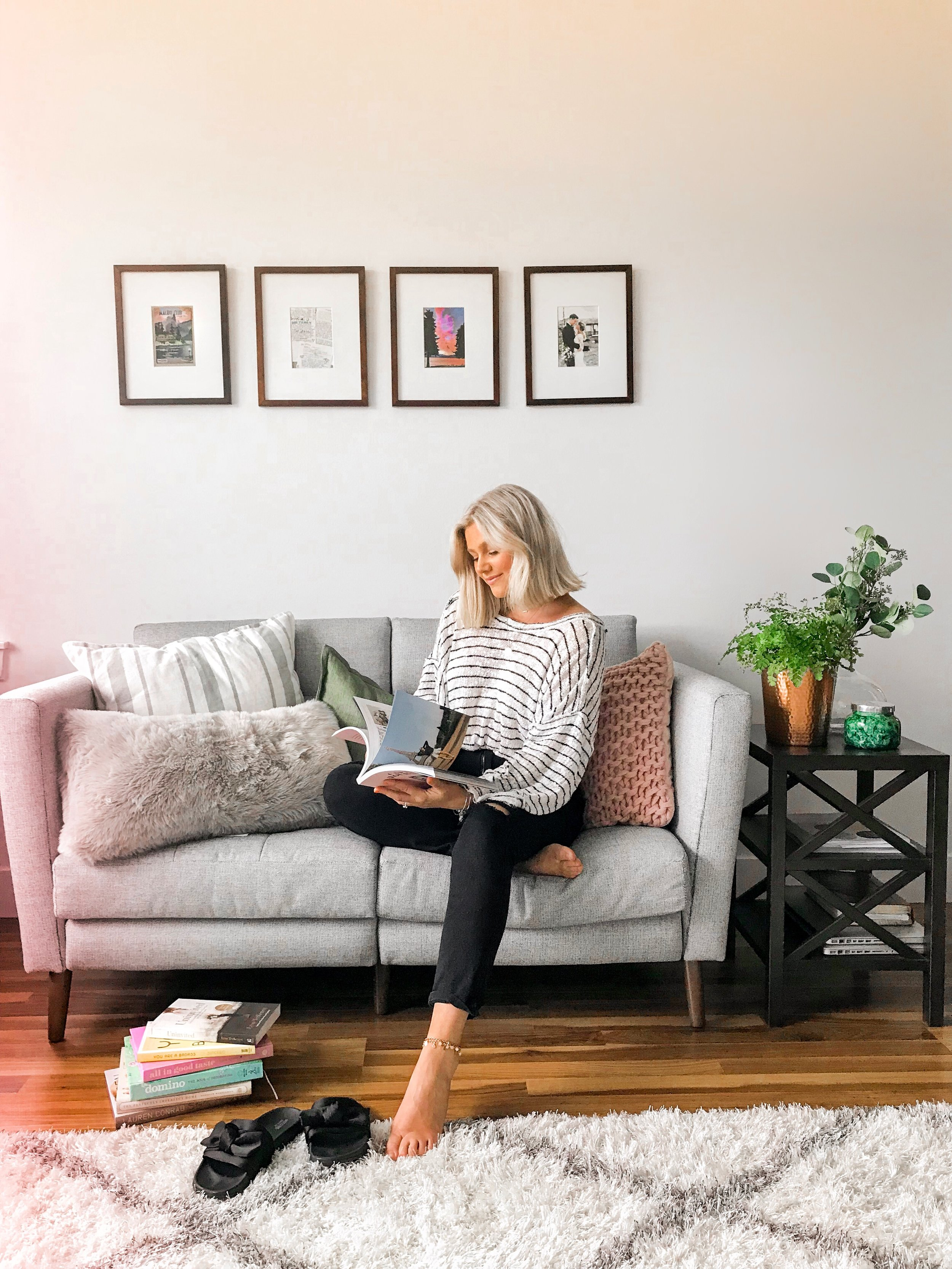 Reading List & Burrow Couch Review - Bre Sheppard