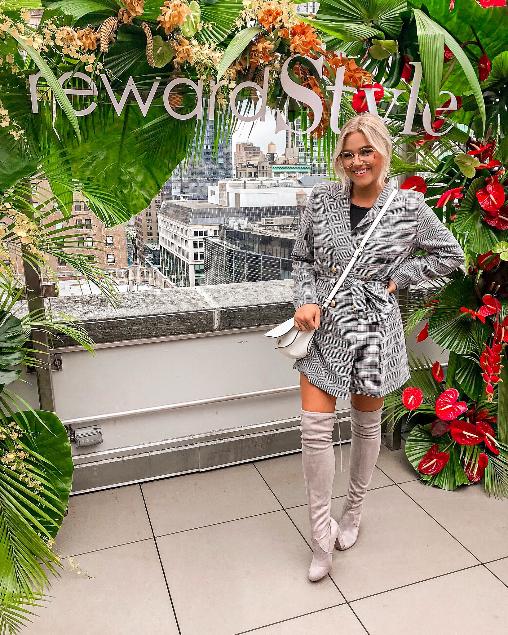 Bre Sheppard - My First NYFW - Suitjacket Dress Reward Style Party.JPG