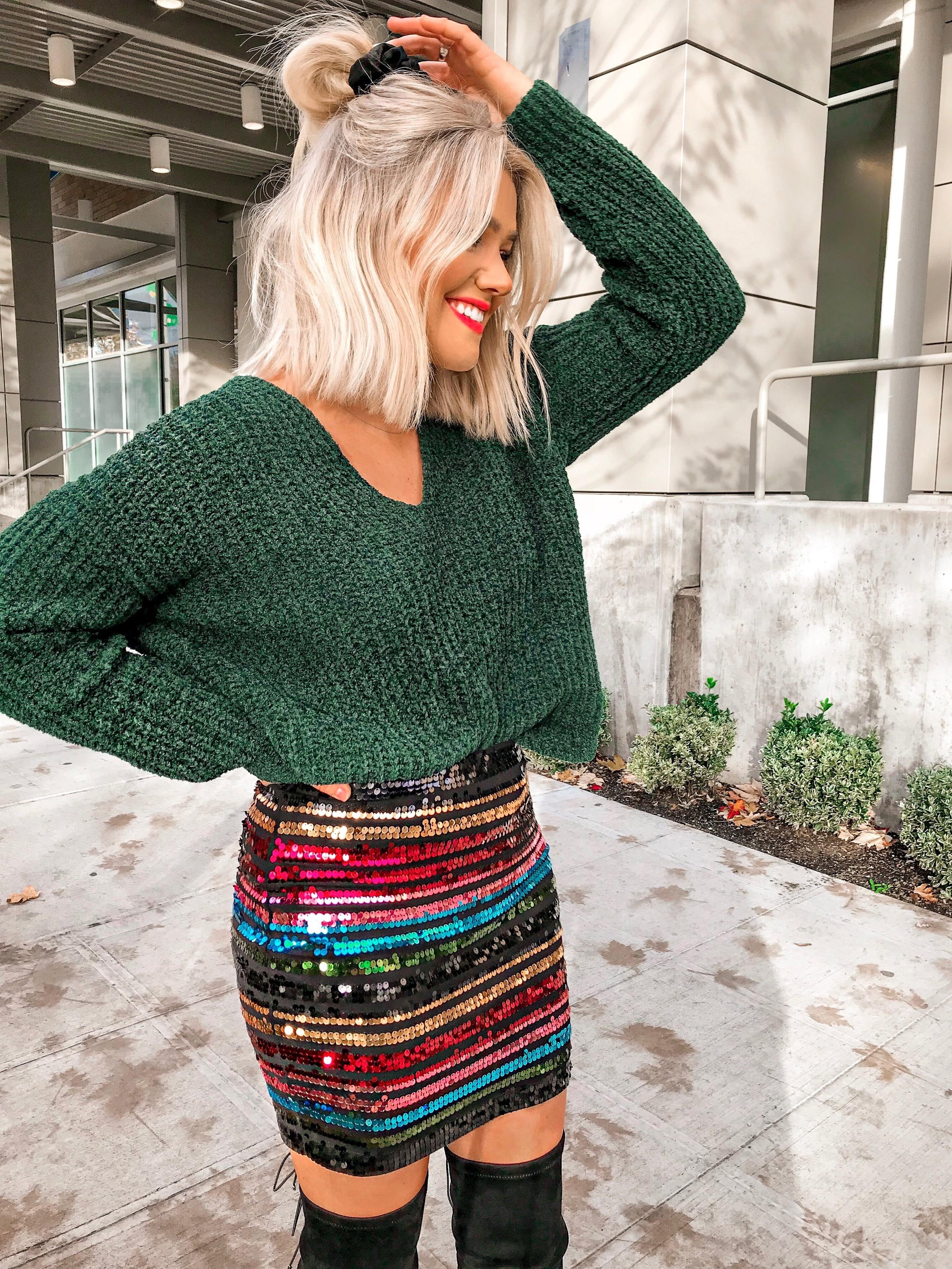 Bre Sheppard - Espress Holiday Style : Shimmer Skirt .JPG