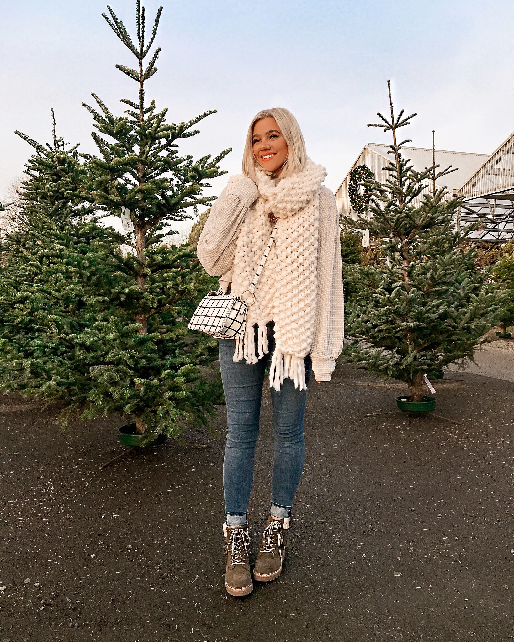 Bre Sheppard Outfit Recap Decemver 2018 - Chunky Scarf and Target Boots.JPG