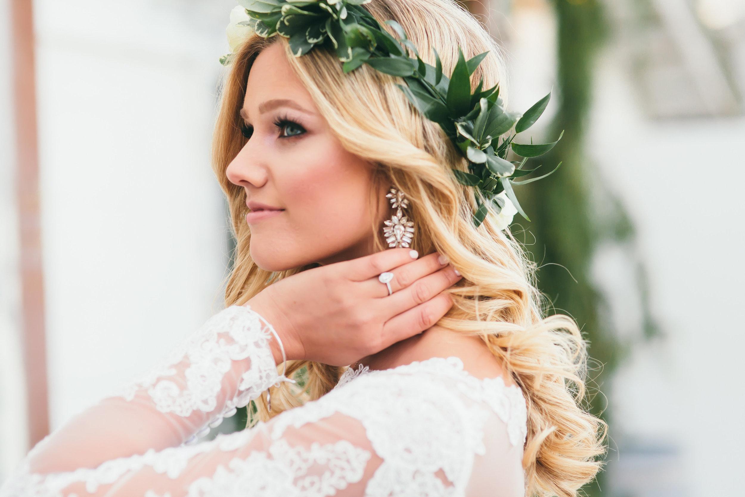 Bre Sheppard Wedding Dress - Flower Grown - Greenery - Makeup Inspo - Bridal Style