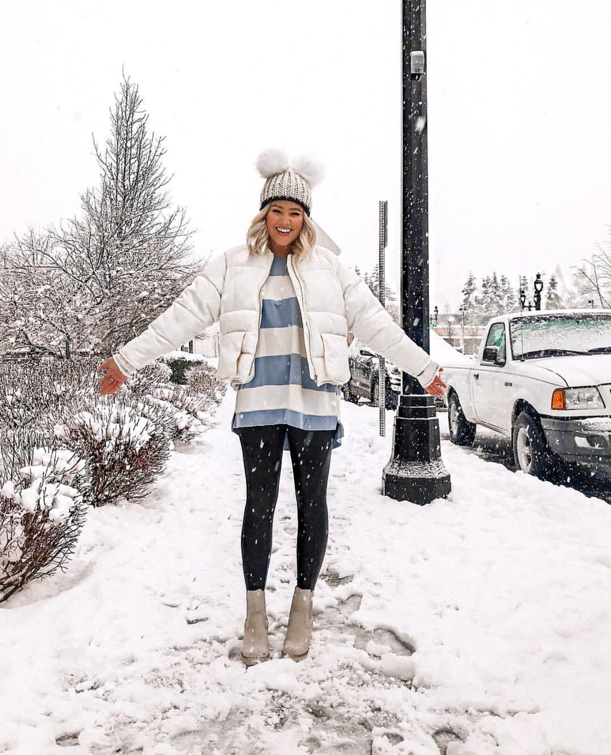 My Holy Grail Fall Staple - Spanx Leather Leggings : bresheppard.com : snow day.PNG