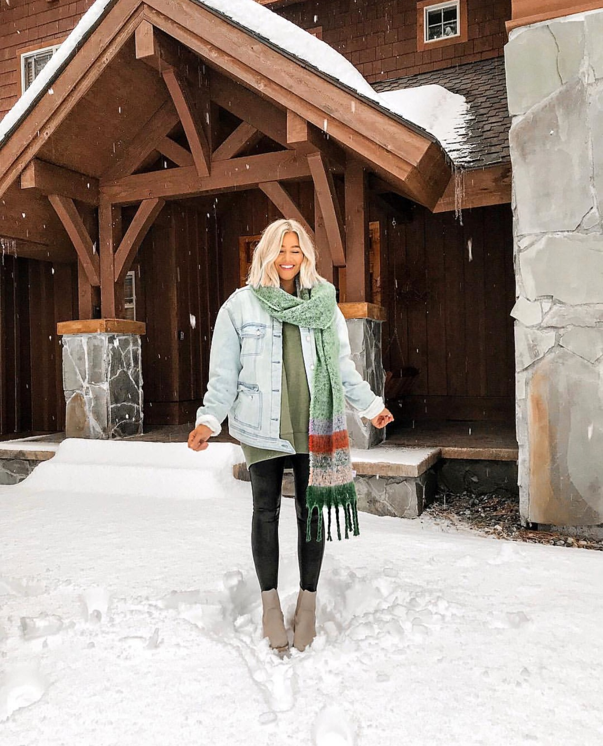My Holy Grail Fall Staple - Spanx Leather Leggings : bresheppard.com : snow day with layers.PNG