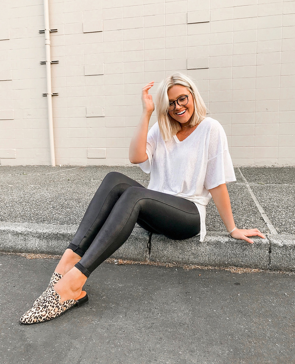 My Holy Grail Fall Staple - Spanx Leather Leggings : bresheppard.com : summer style with loafers.PNG