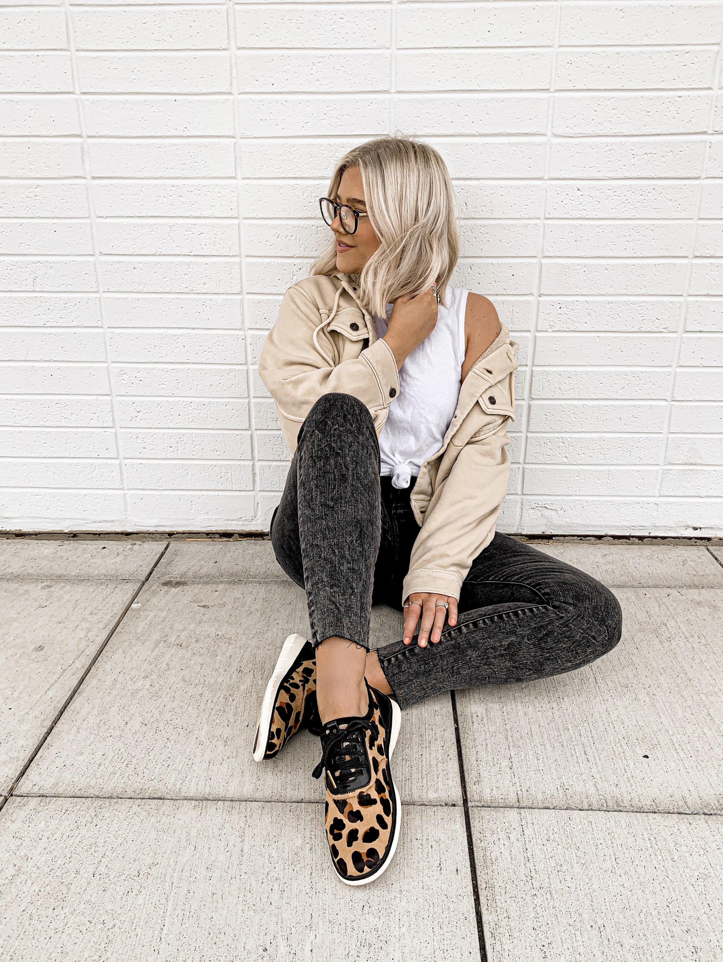 Bre Sheppard Cole Haan Animal Print Sneakers - bresheppard.com