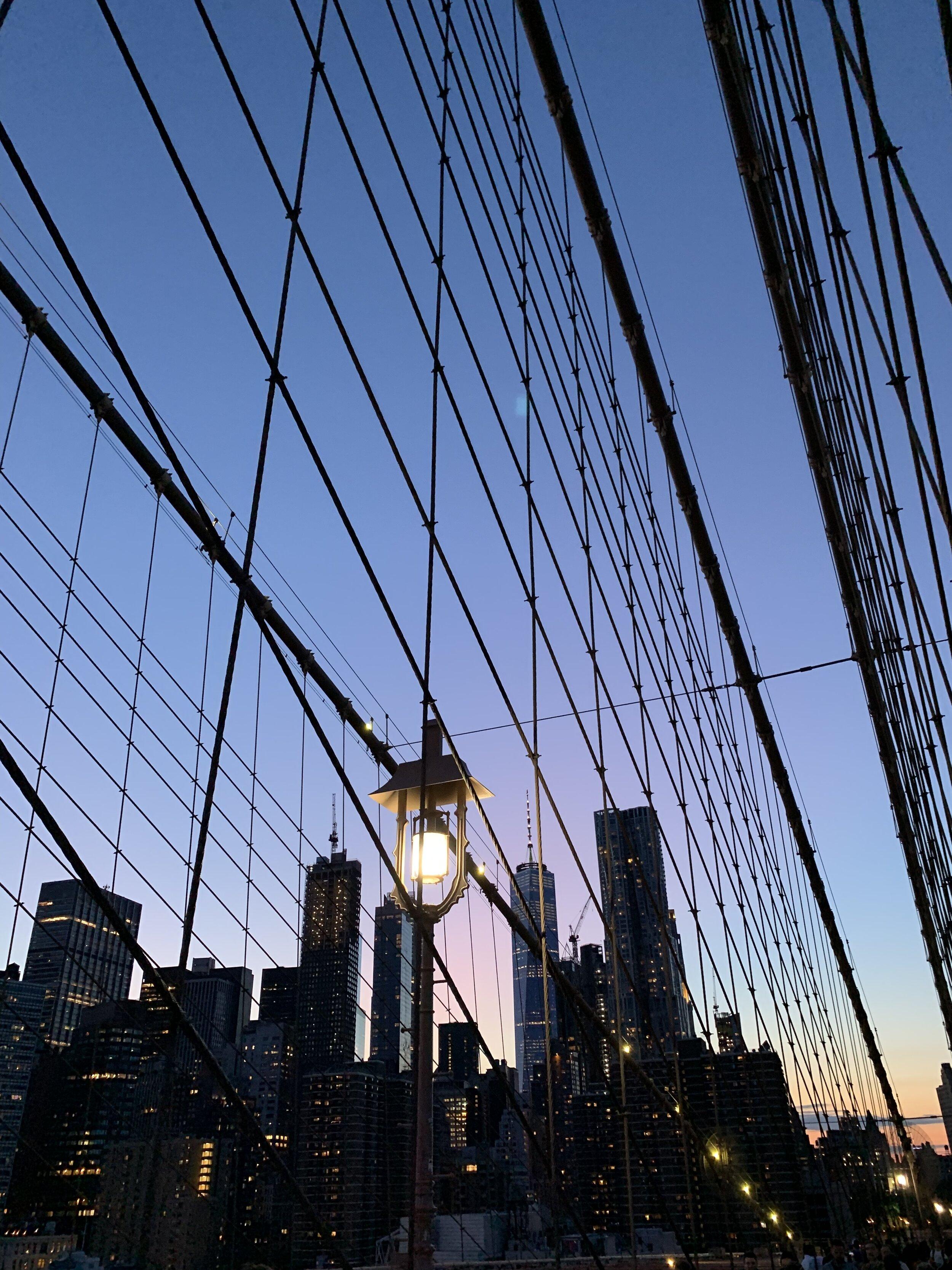 bresheppard.com : NYFW 2019 Brooklyn Bridge at Sunset.jpg