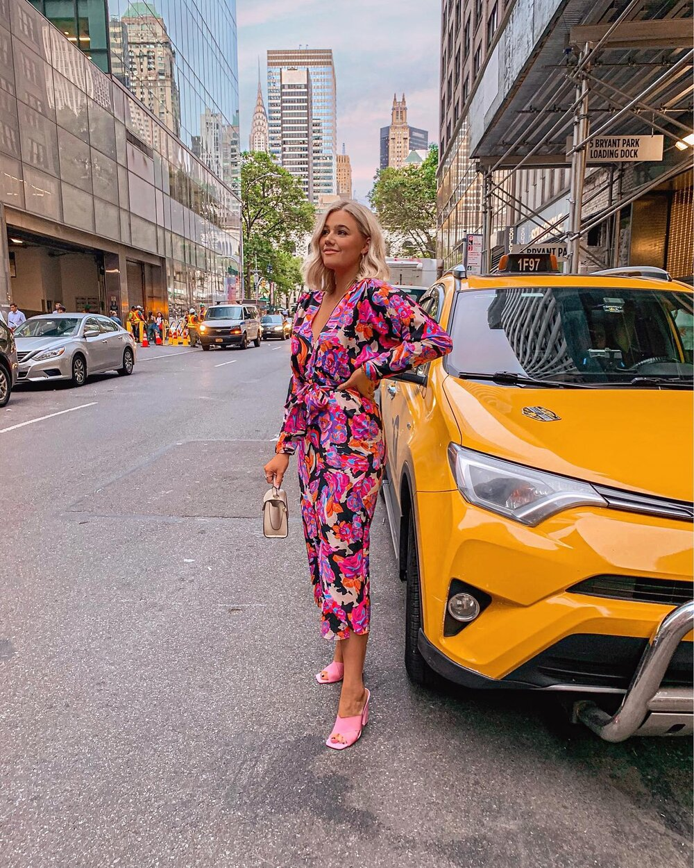 Bre Sheppard Retro Pink Dress NYC.JPG