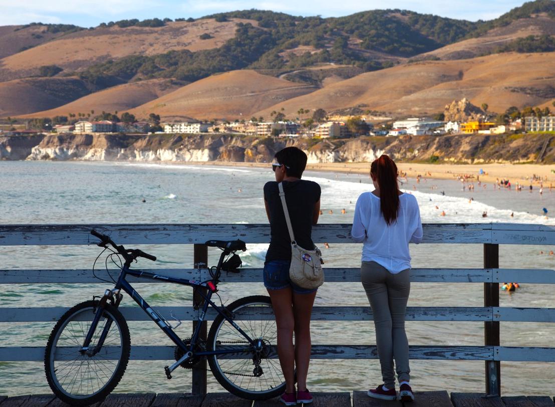 California's Central Coast from Pismo Beach pier