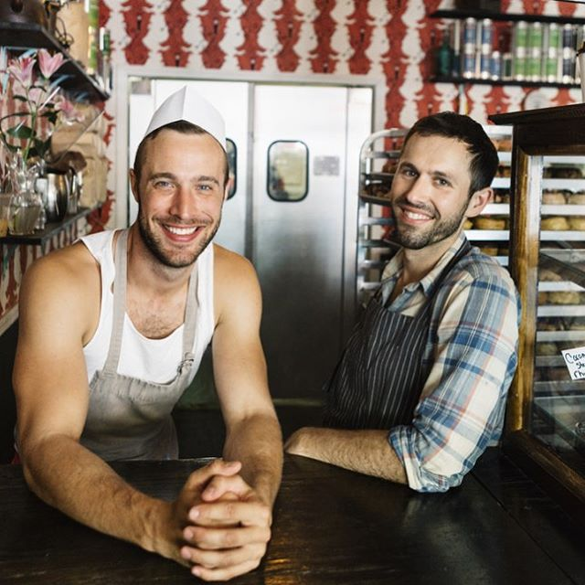 the duo behind @dunwelldoughnuts !!! One of my favorite portraits taken for Chefs of NYC! Taken by @mitchellwojcik #dunwelldoughnuts #dunwell #doughnutshop #doughnut #duo #portrait #eastwilliamsburg #williamsburg #bushwick #brooklyn #donuts #vegan #vegandonuts