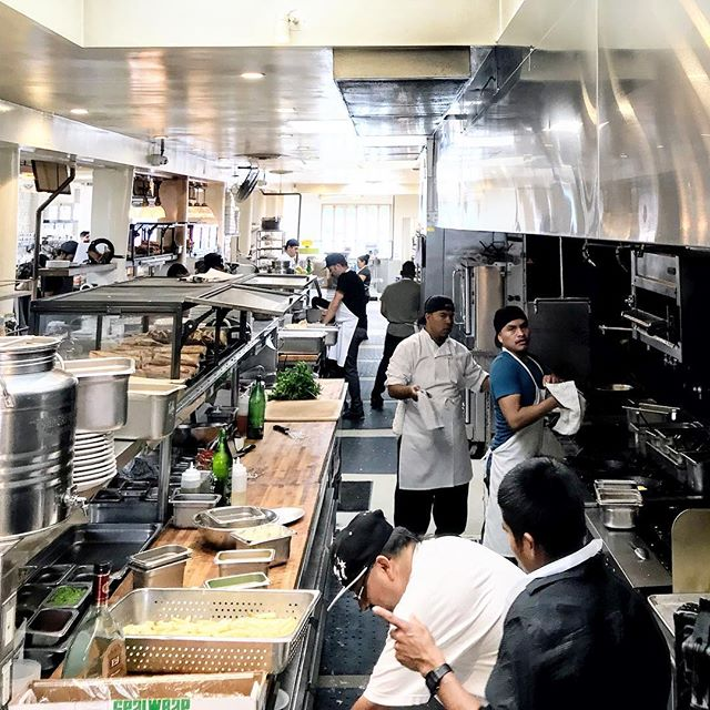 Just look at the size of gjusta's kitchen. . . #gjusta #lafood #chefstalk #chefslife #losangelesfood #foodtravel