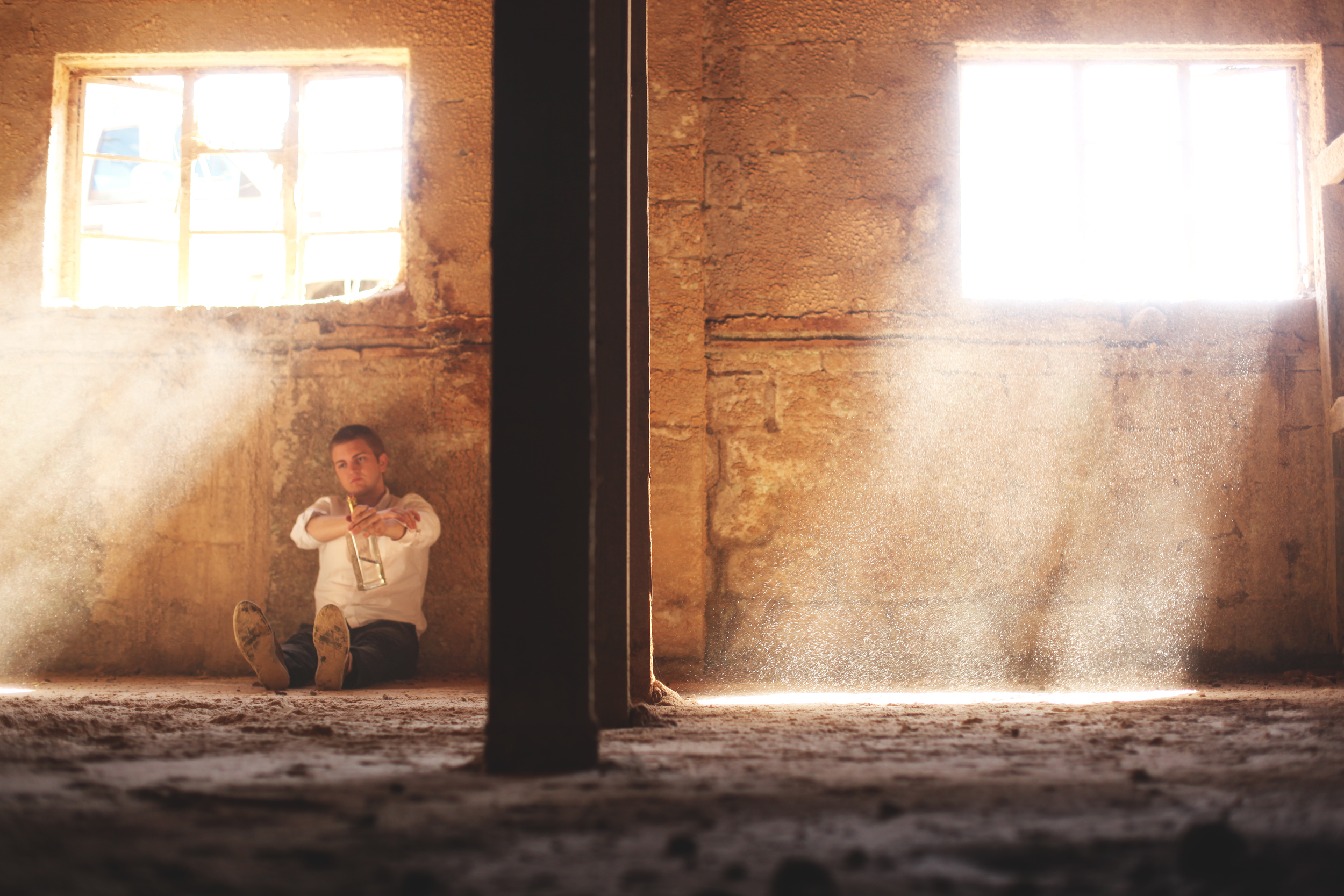 We can all identify with sitting in an abandoned building going through a bottle of vodka right...right?