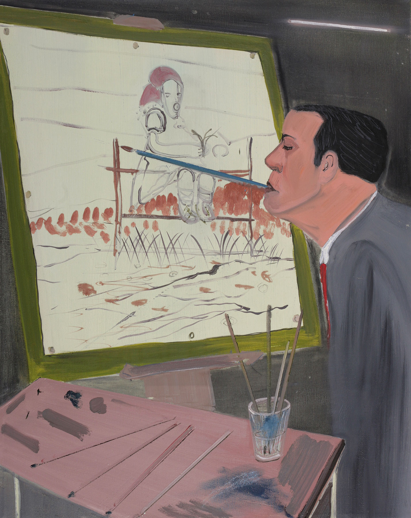 Mouth Painter, 2007   Oil on canvas, 82x65 cm