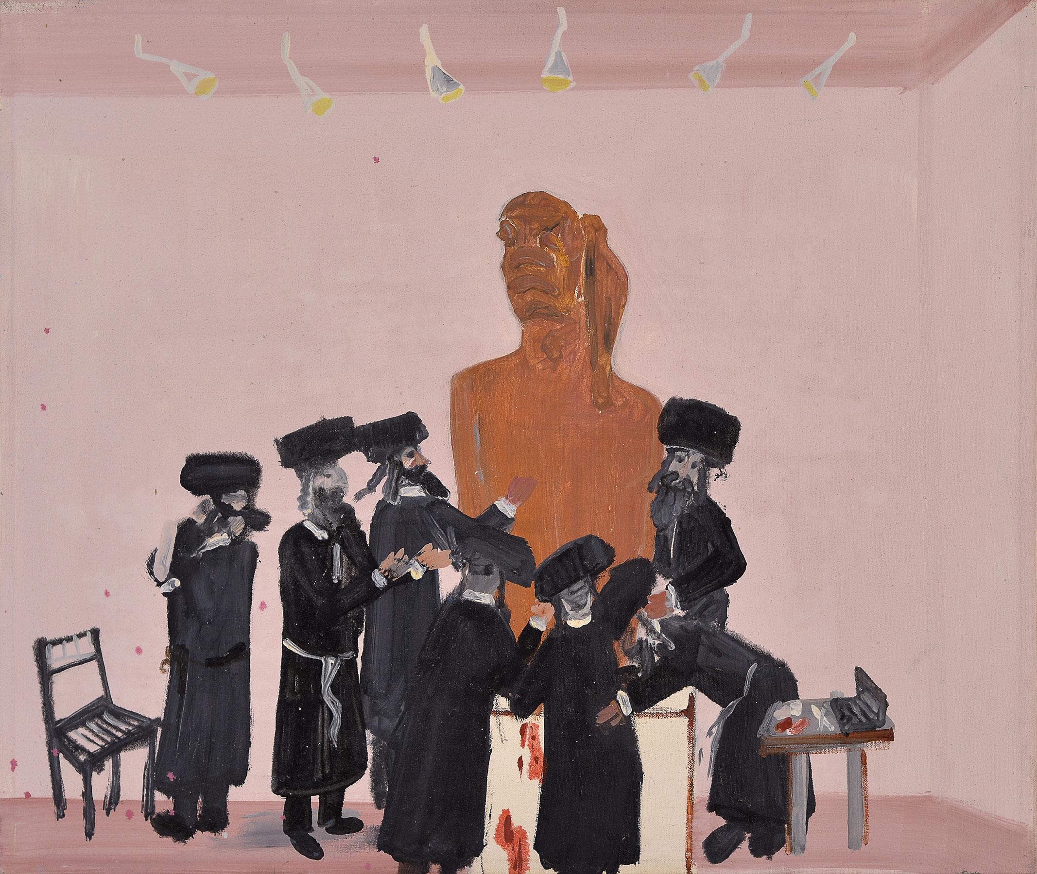 Nimrod's Circumcision, 2009    Oil on canvas,43x50 cm