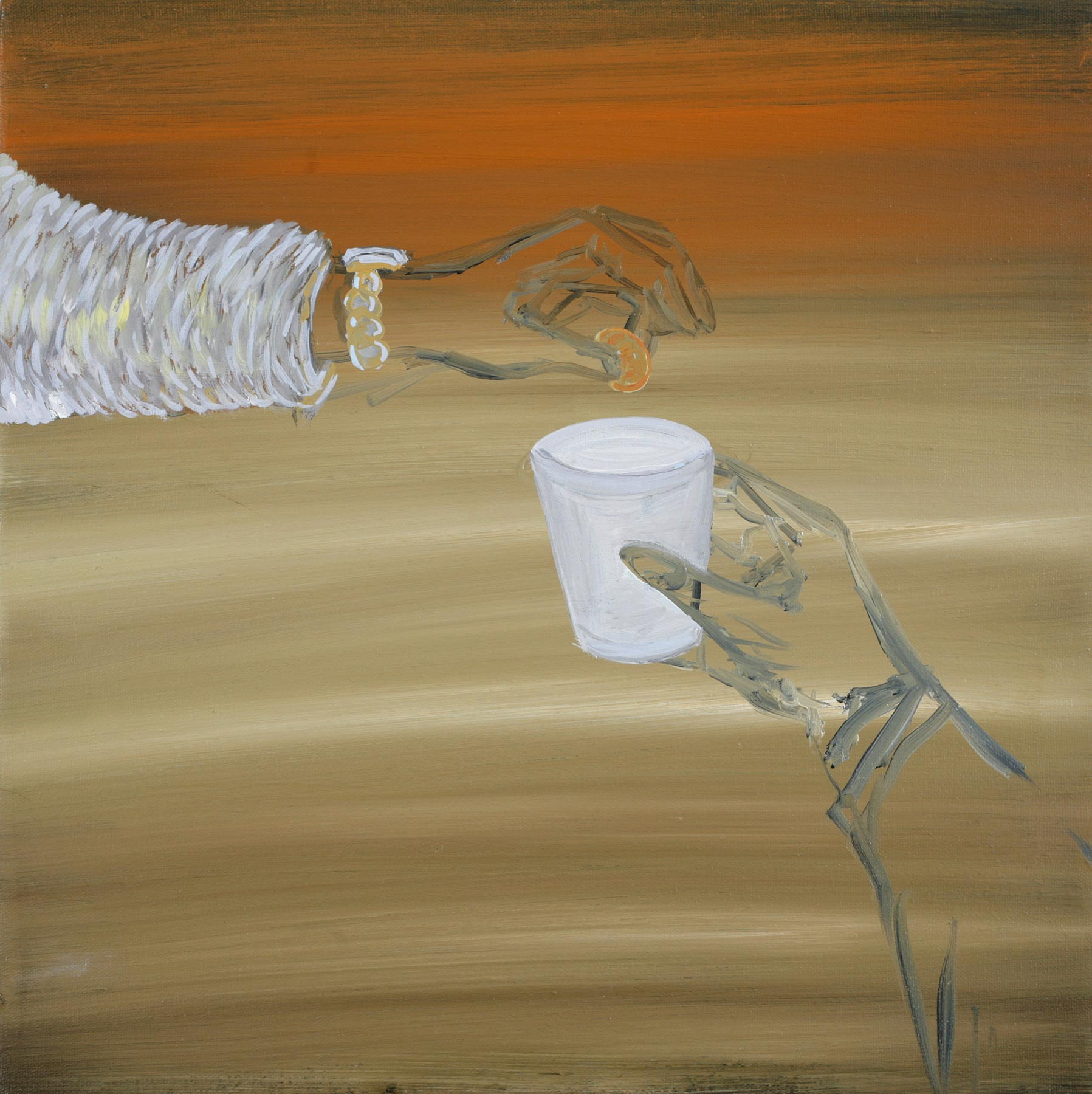 Donation, 2007    Oil on canvas, 46x46 cm