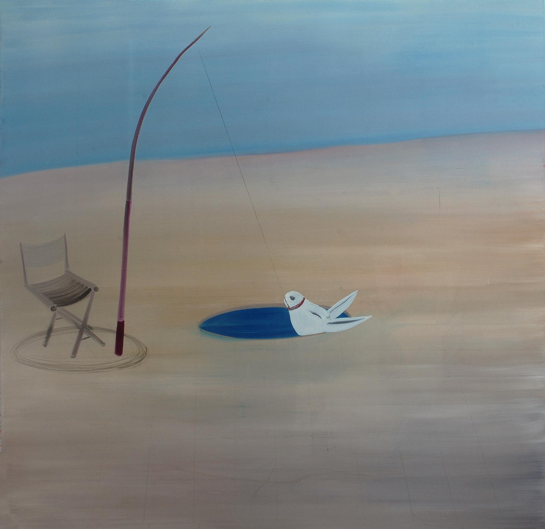 Fishing , 2009   Oil on canvas, 177x212 cm