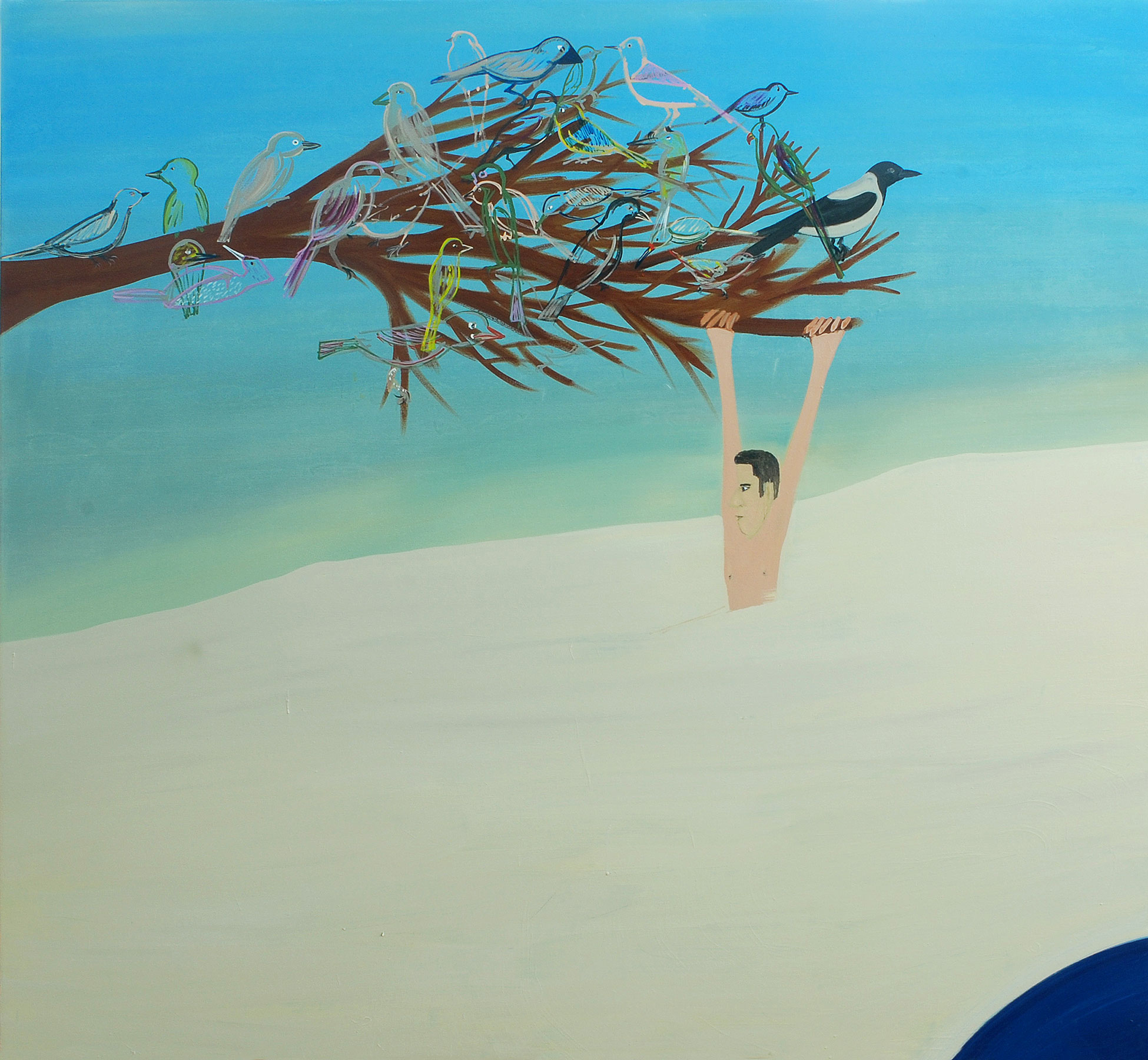 Hang On, 2009    Oil on canvas, 176x190 cm