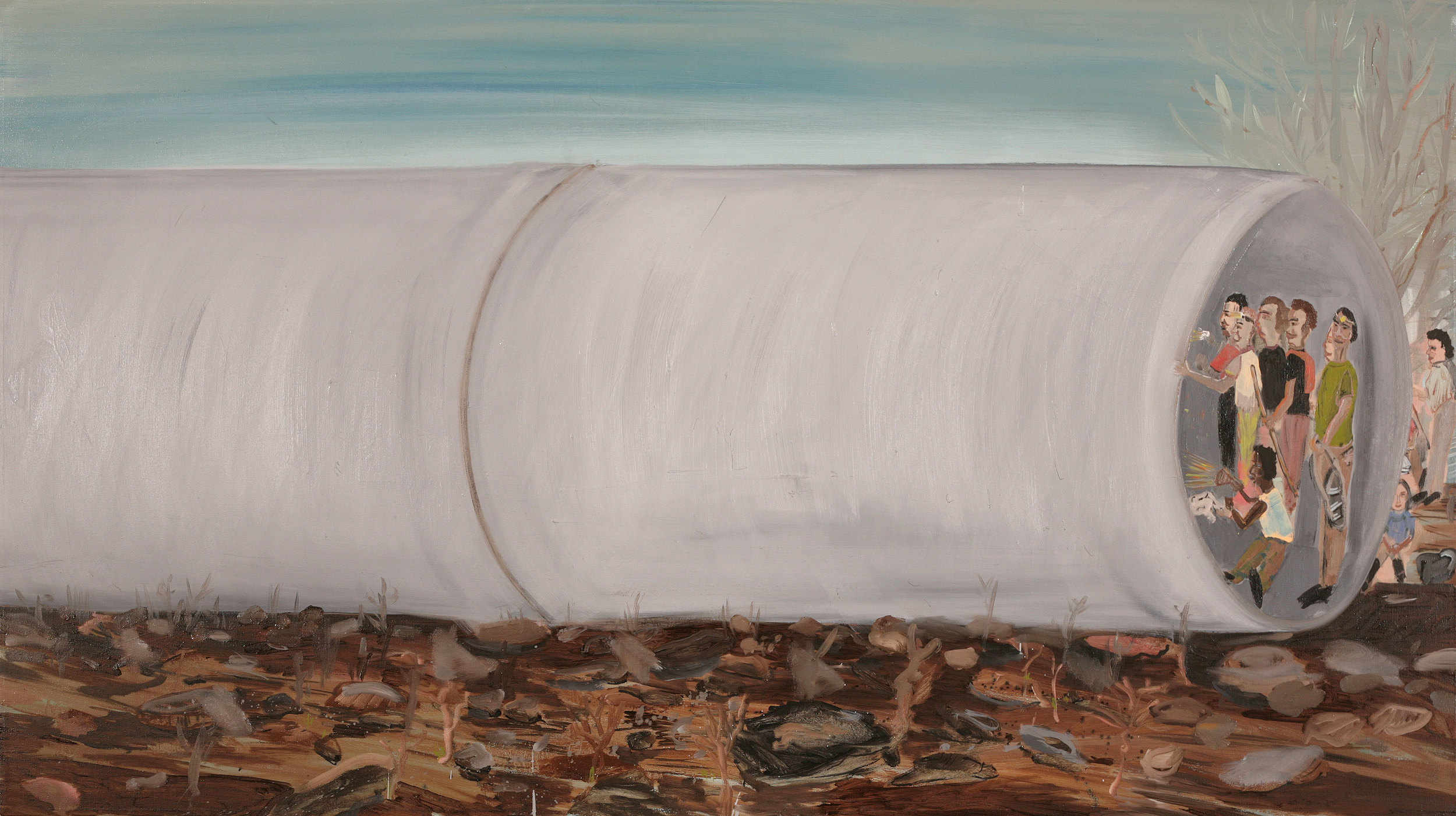 Pipe, 2007    Oil on canvas, 110x196 cm