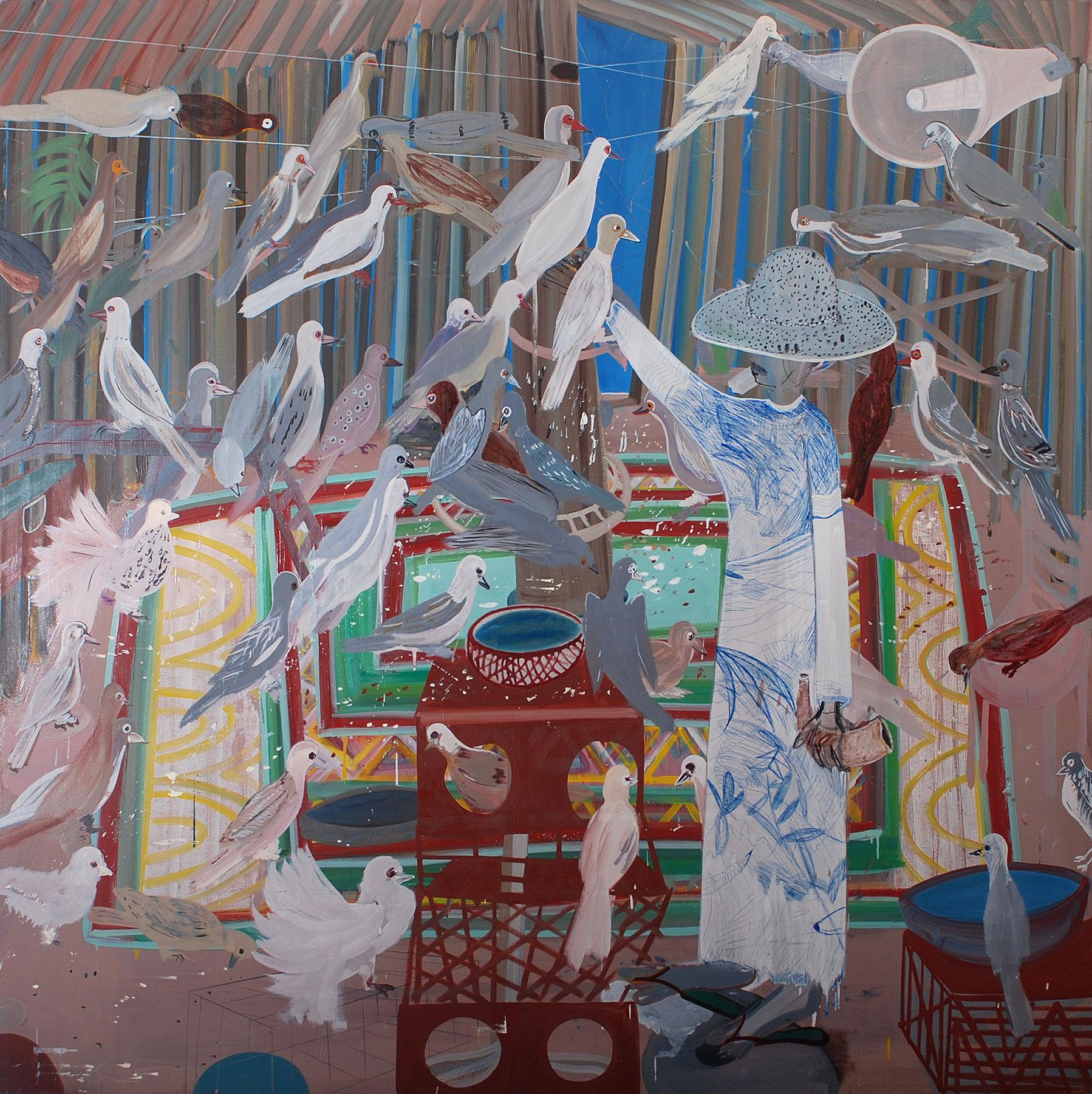 Postman, 2010    Oil on canvas, 207x210 cm