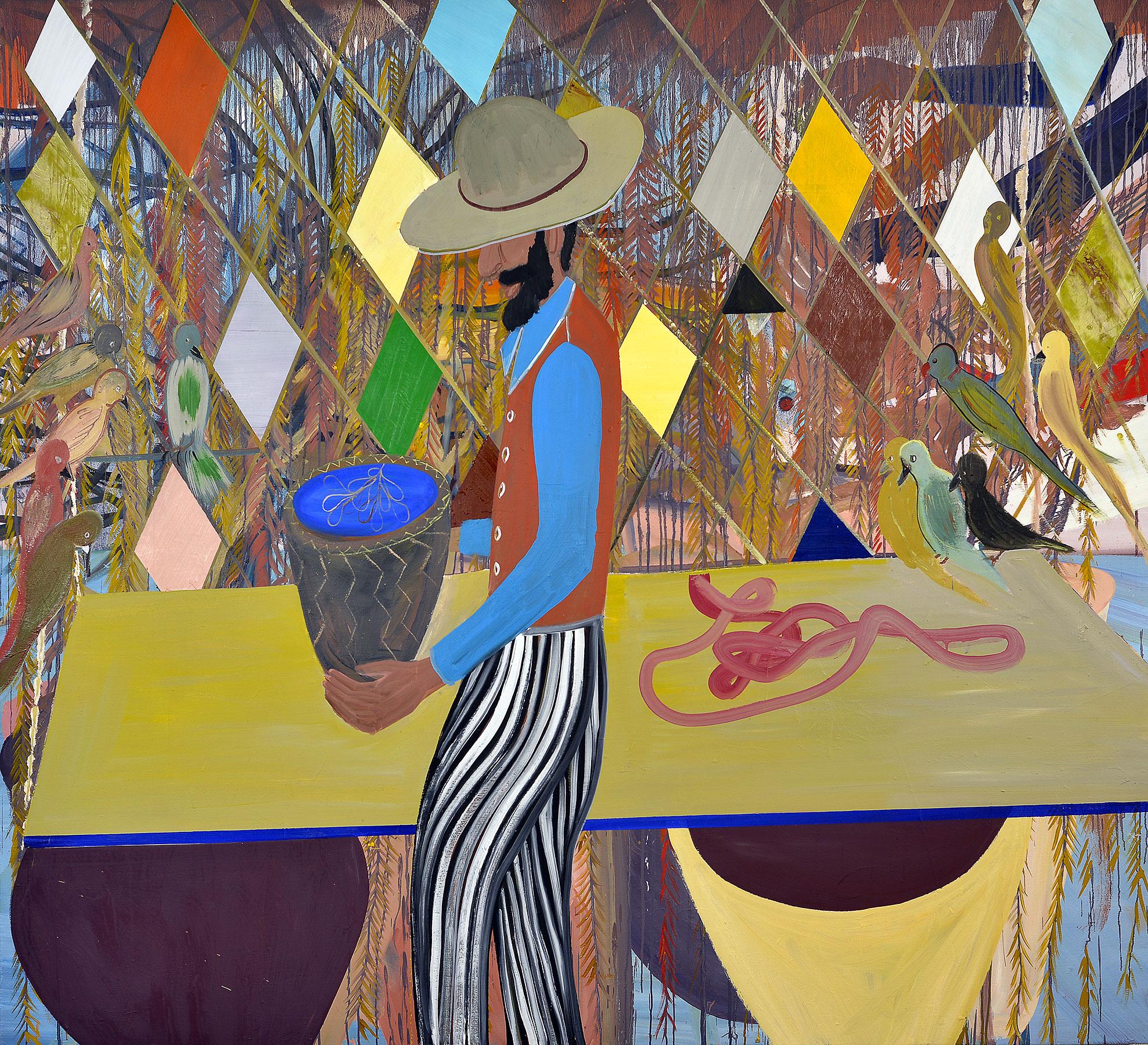 Rhombus, 2015    Oil on canvas, 188x212 cm