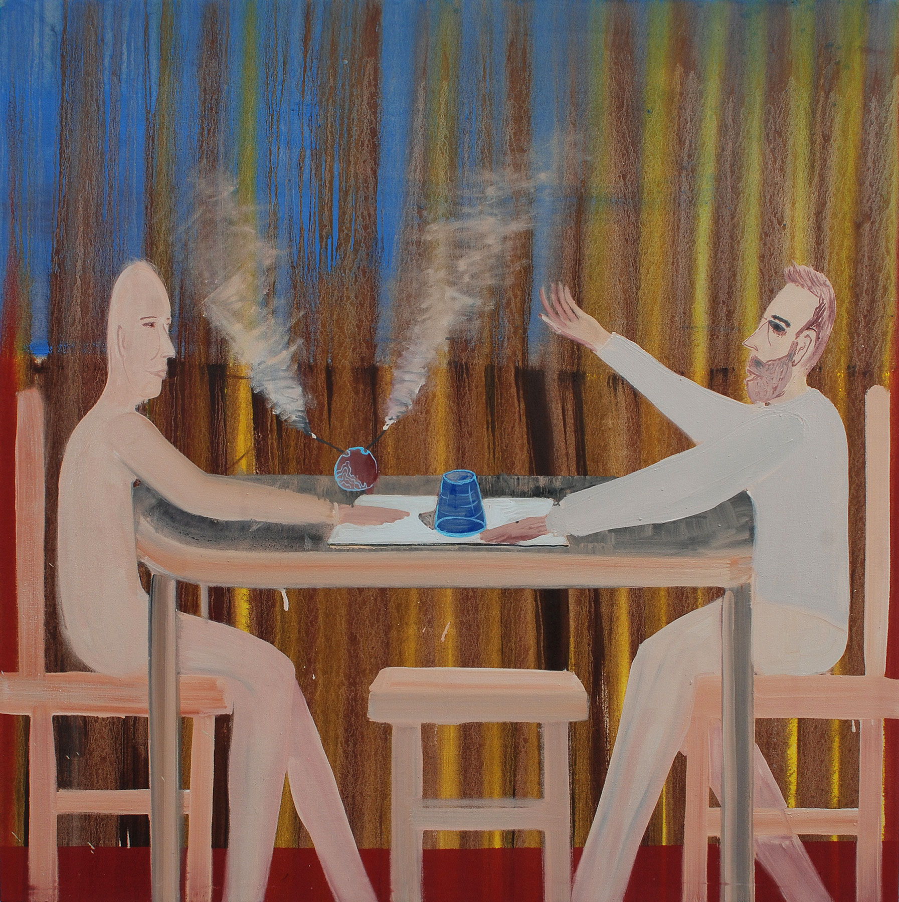Smoke, 2009    Oil on canvas, 105x105 cm