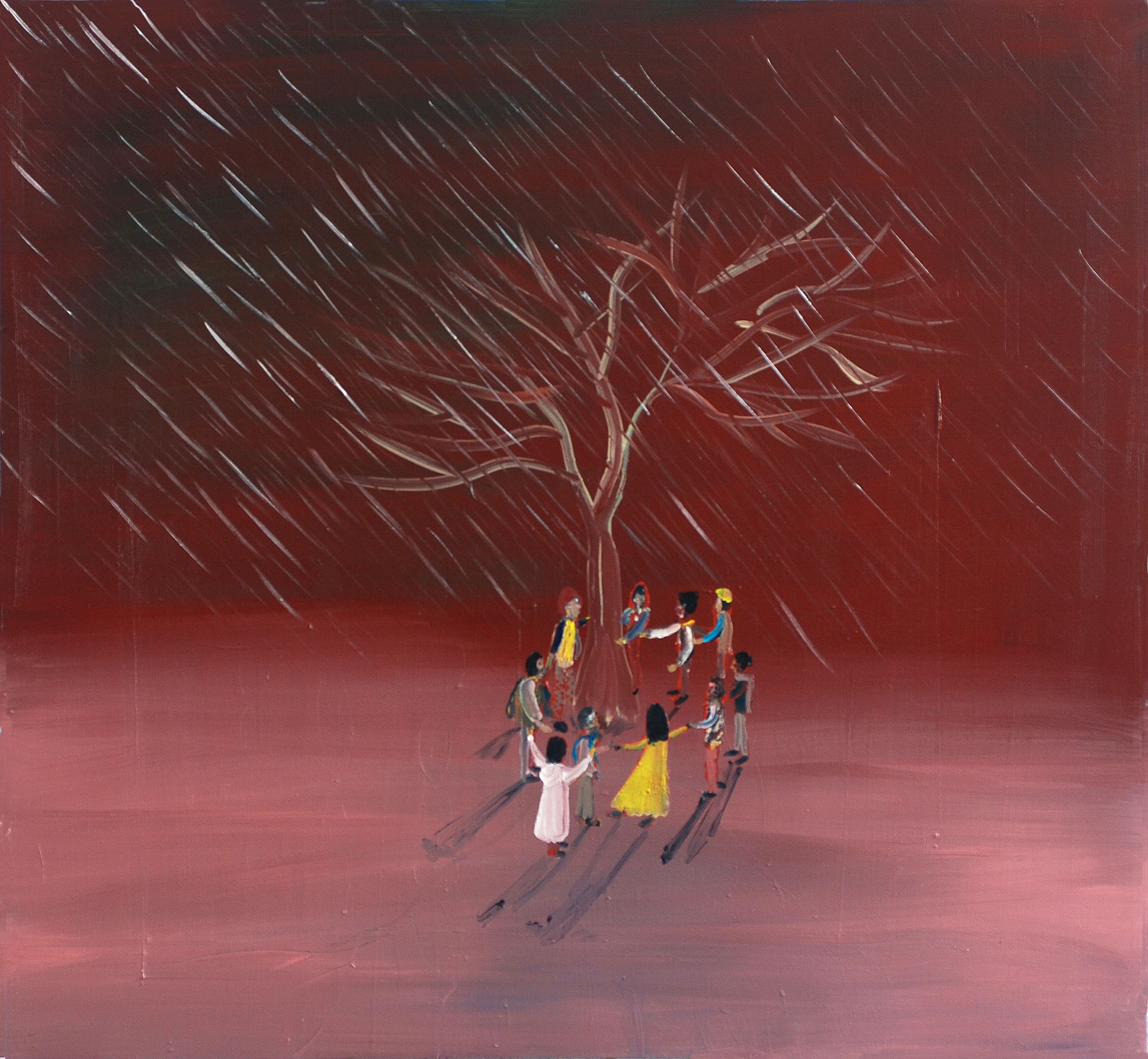 Weekend, 2011    Oil on canvas, 105x105 cm