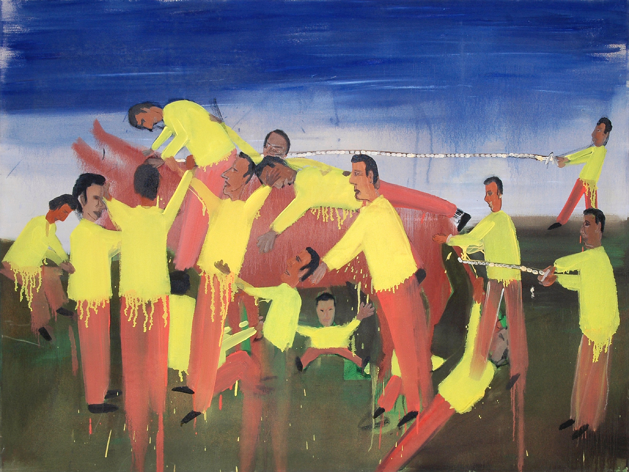 Taming the Beast, 2007    Oil on canvas, 166x120 cm