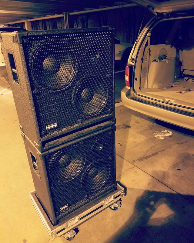 Avatar cabs... my favorite cabs ever... already been in tour and seen a majority of my shows... built like tanks and sounds like a line of rolling tanks... :D #avatar #avatarspeakers #bass #basscab #basscabs #speaker #speakers #amp #amps #bassamp #12 #2x12
