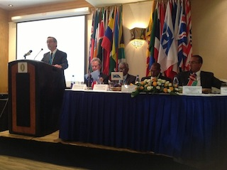 Professor Rumley, the Chair of IORG Inc. speaks at Nairobi Conference on Maritime Africa Political Economy, 2014.