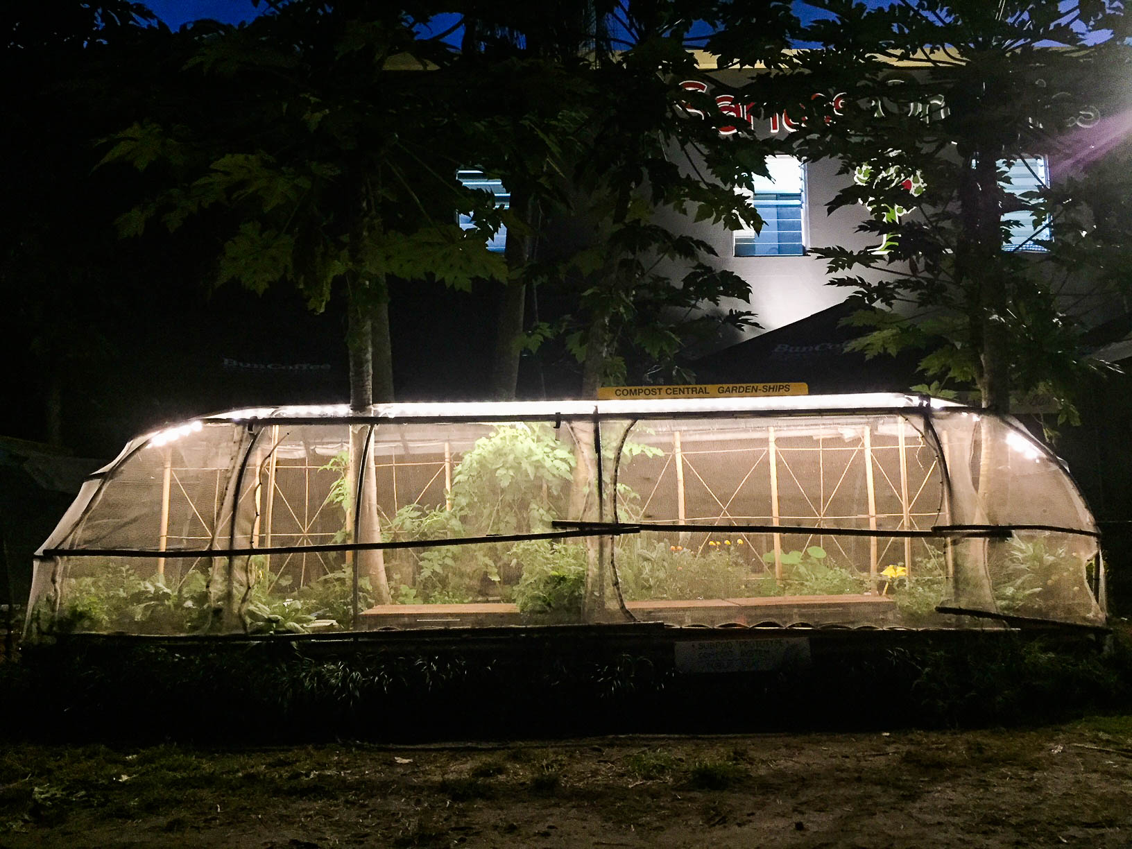 Garden Ships at Santos, lit with LED
