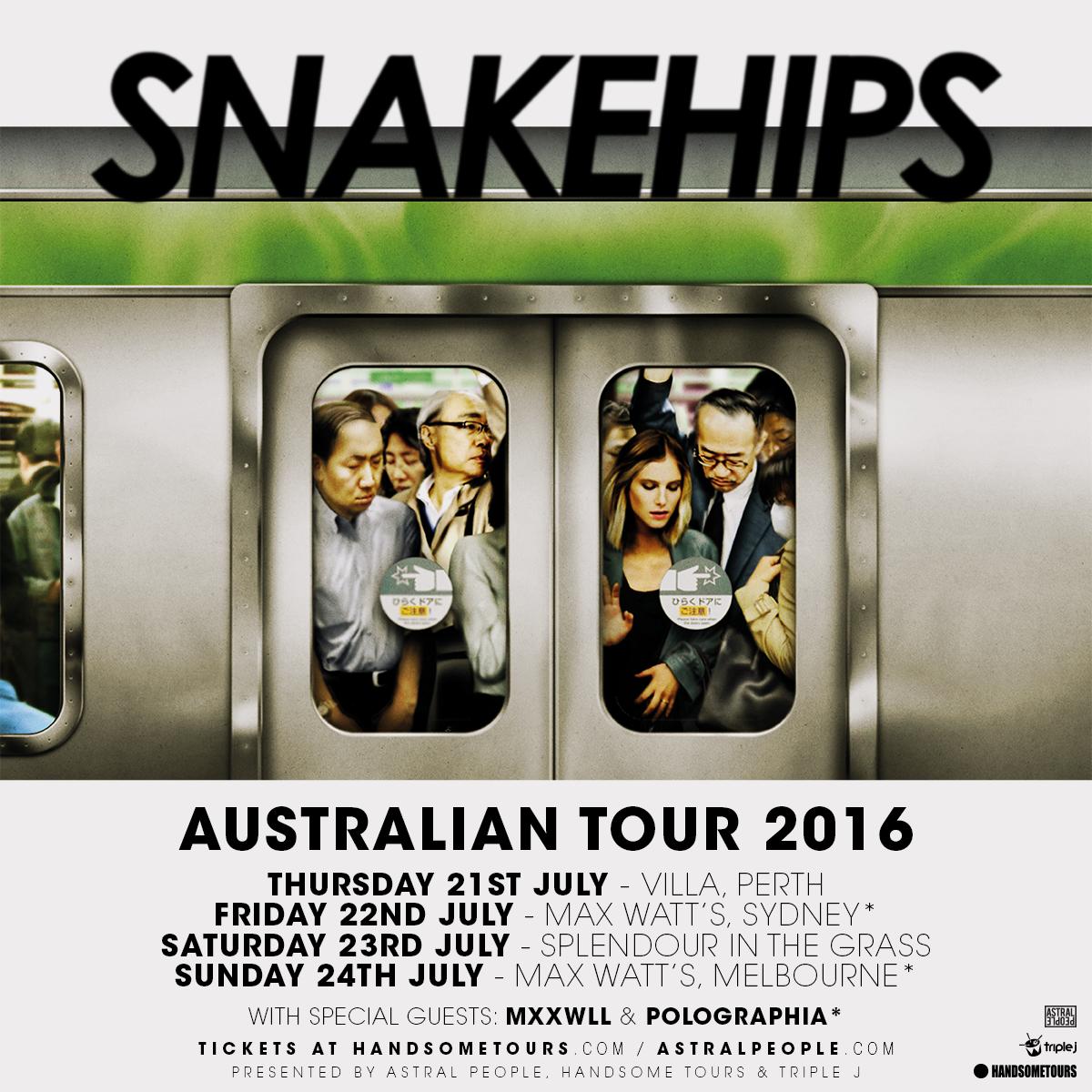 Snakehips 2016 Tour