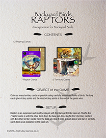 Rules for Raptors
