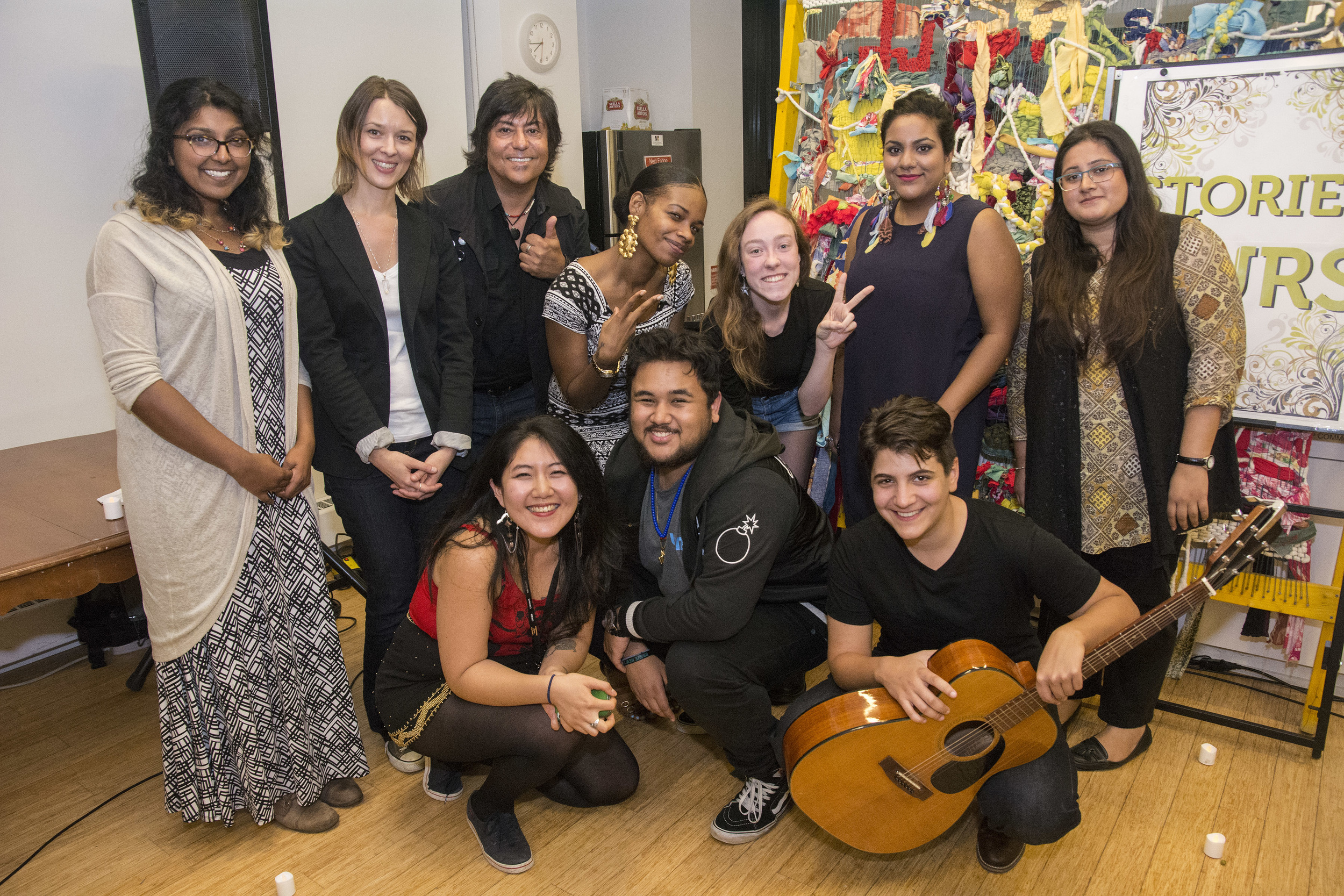 The awesome performers! From Left to Right:  Standing: Bandana Singh, Ilaneet Goren, Pol Carlos, Alicia Cinnamon, Twoey Gray, Koel, Maheen Hyder  Kneeling: Erin Kang, Berma, Sare D'Alimonte