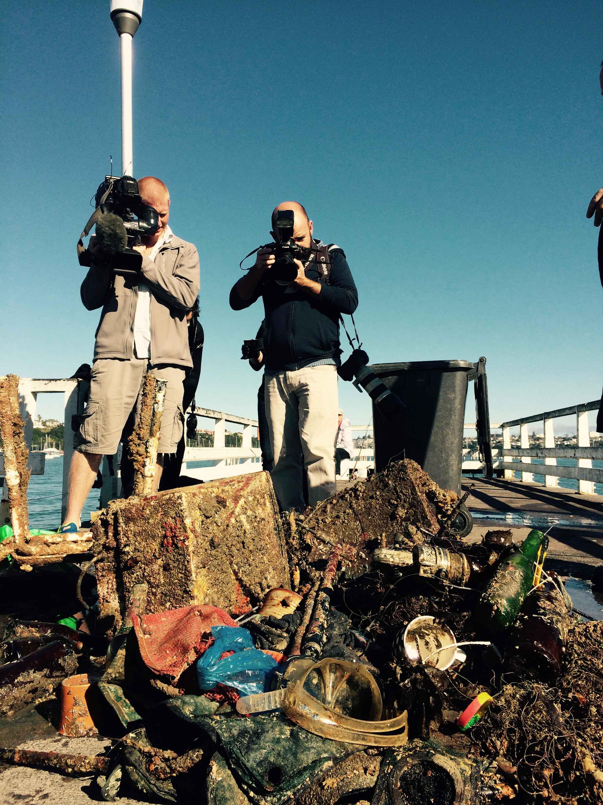 Dive for debris Okahu Bay
