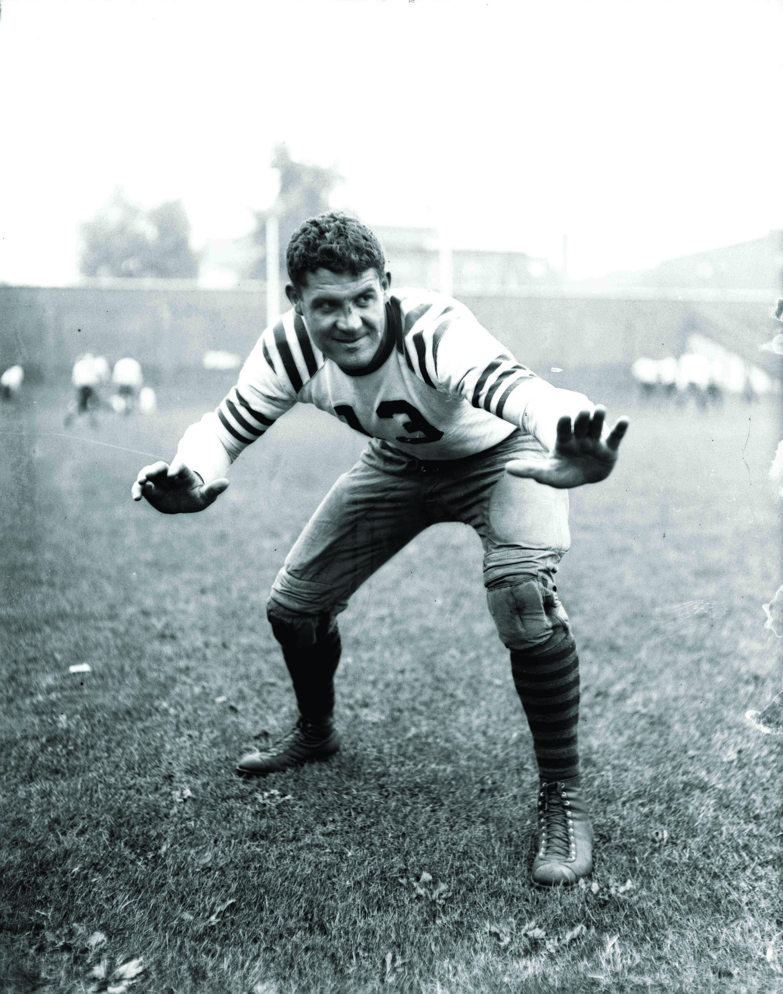 Joe Stydahar's football career was interrupted by a stint in the U.S. Navy during World War II.