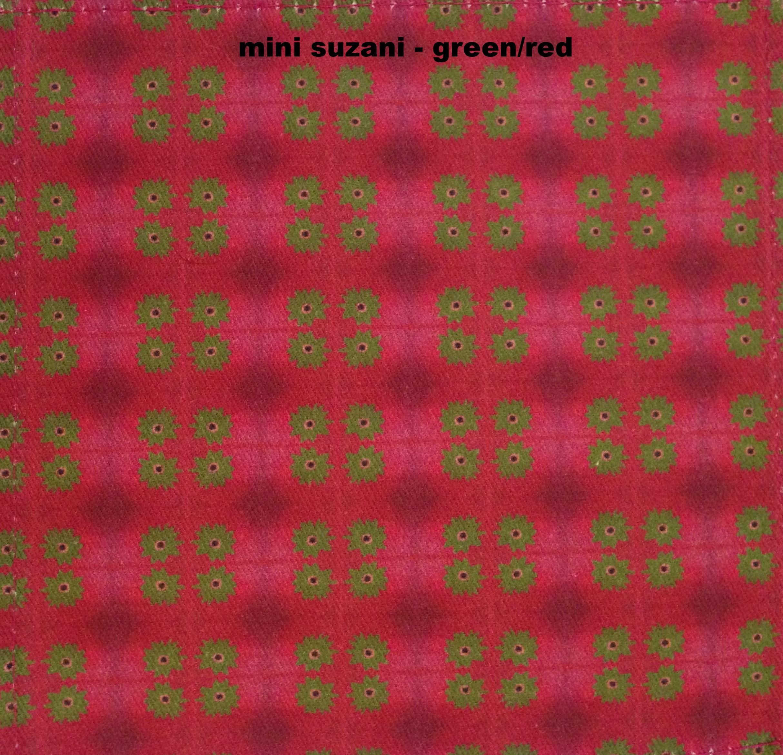 mini suzani green red