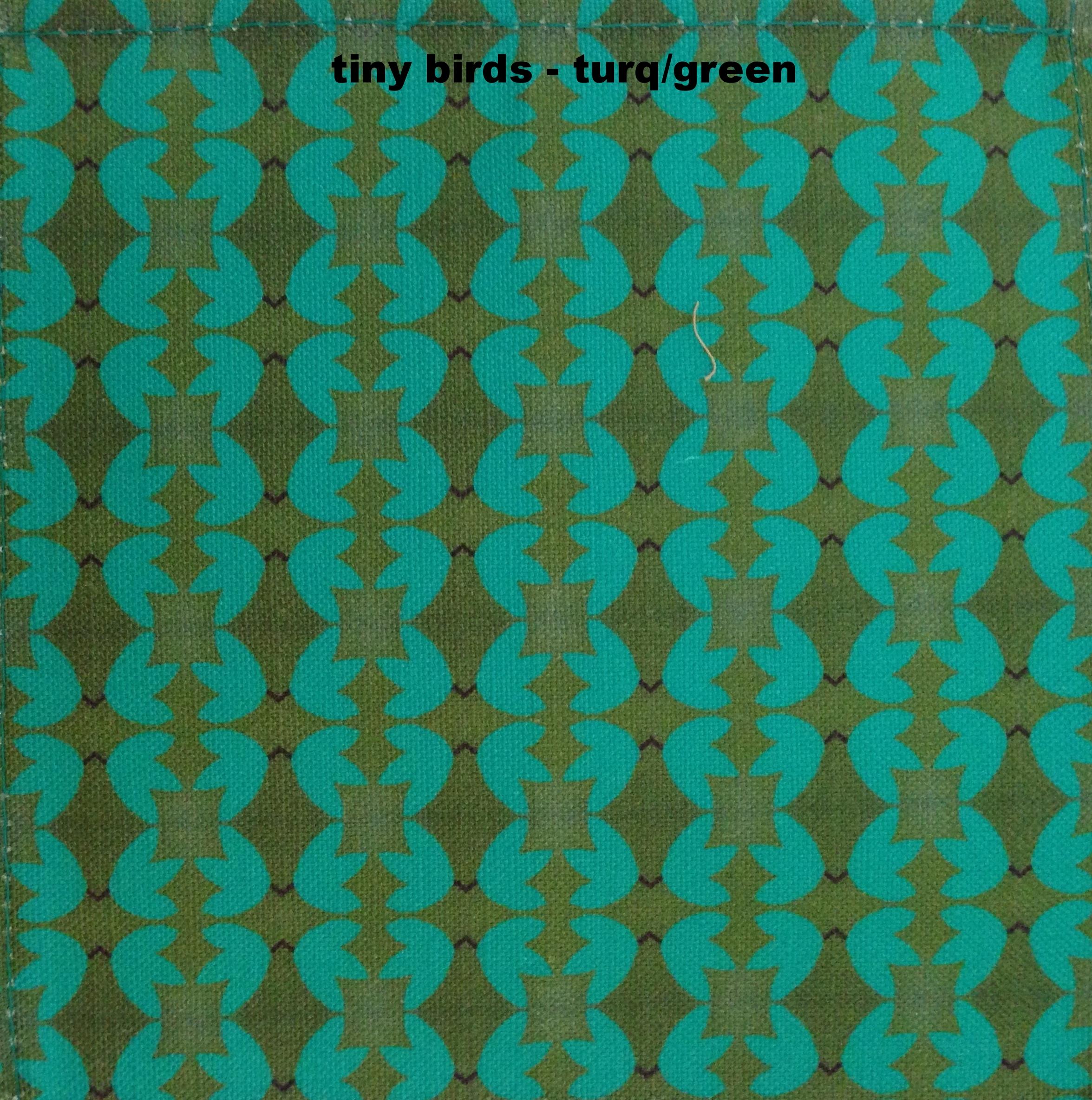 tiny birds - teal/green