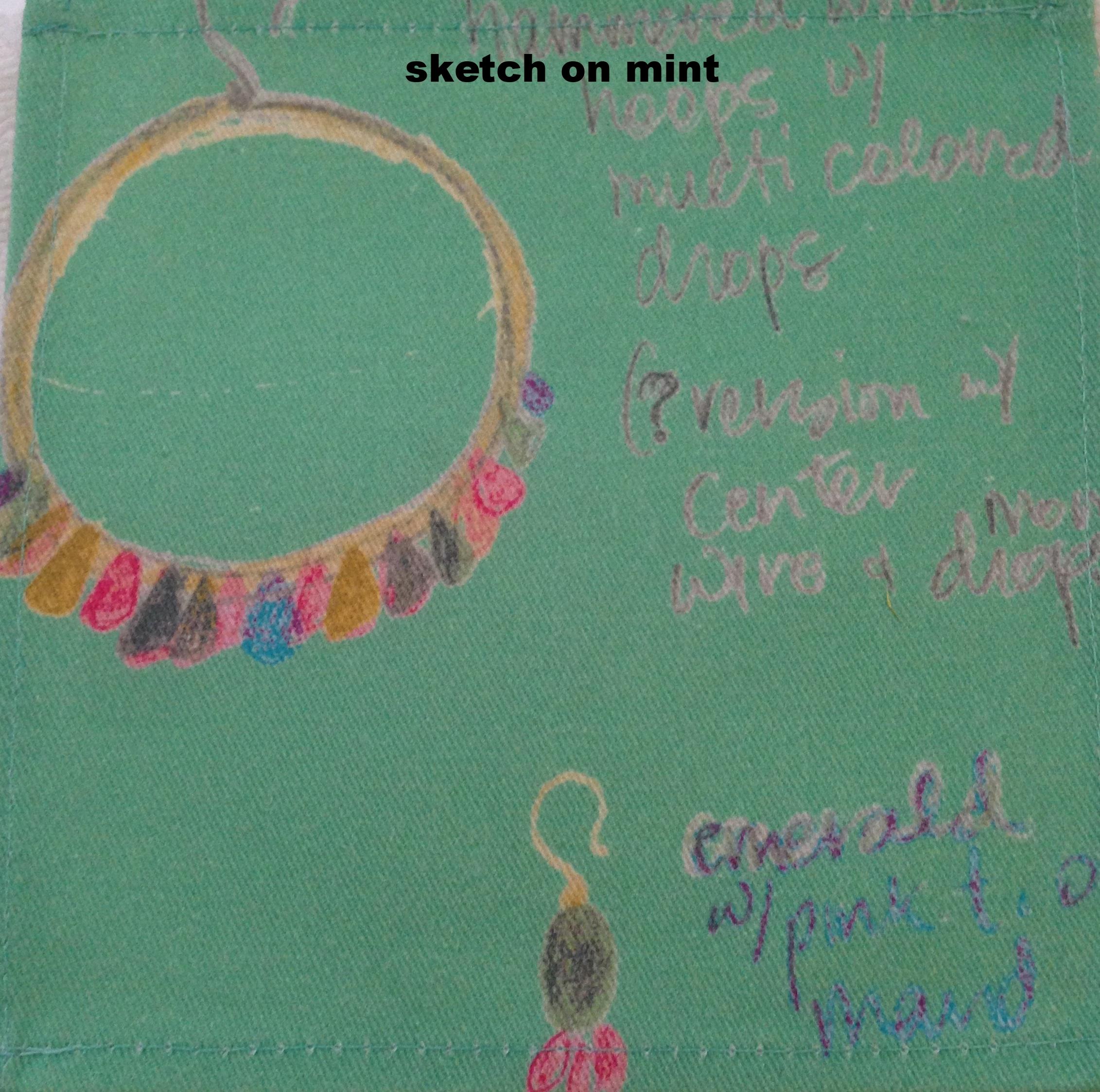 sketch on mint