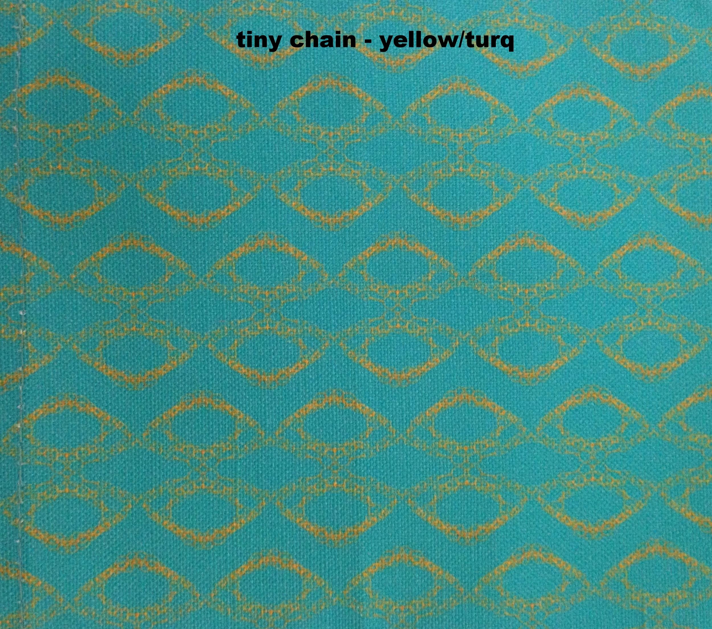 mini chain/yellow on turq
