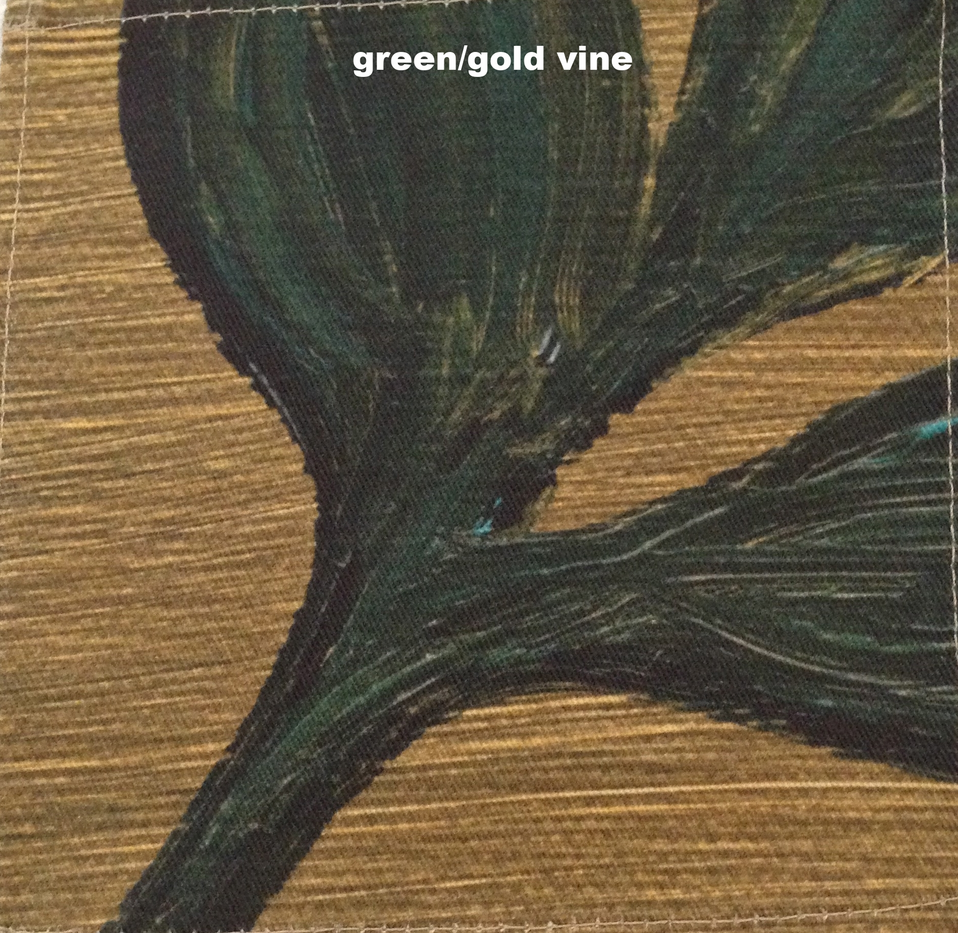 gold green vine