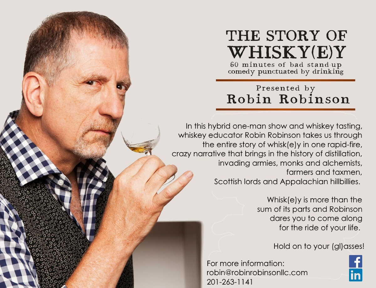 The Story of Whiskey comes to Los Angeles on October 25 and Atlanta on November 2!  See  Whiskey-Tainment!  for more info.