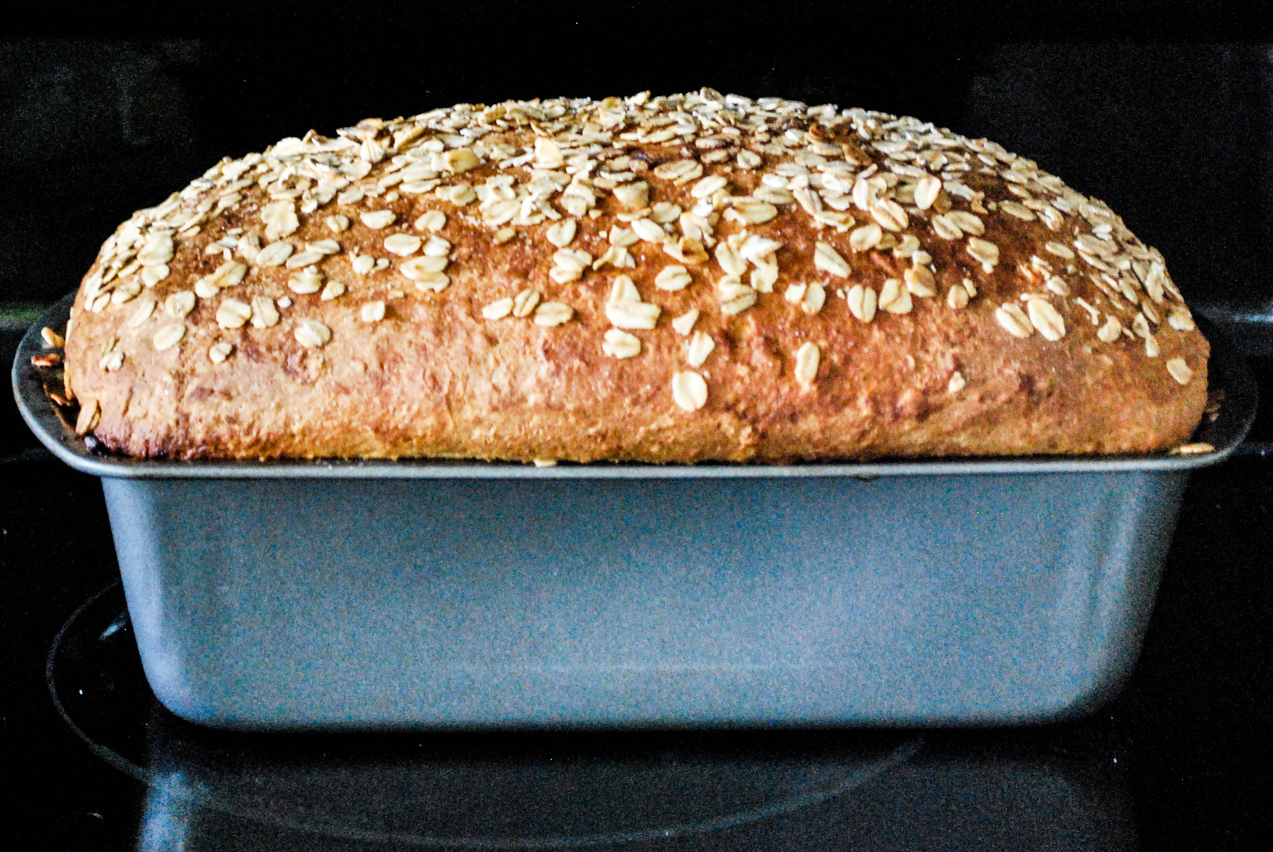 Honey Wheat Oatmeal Bread