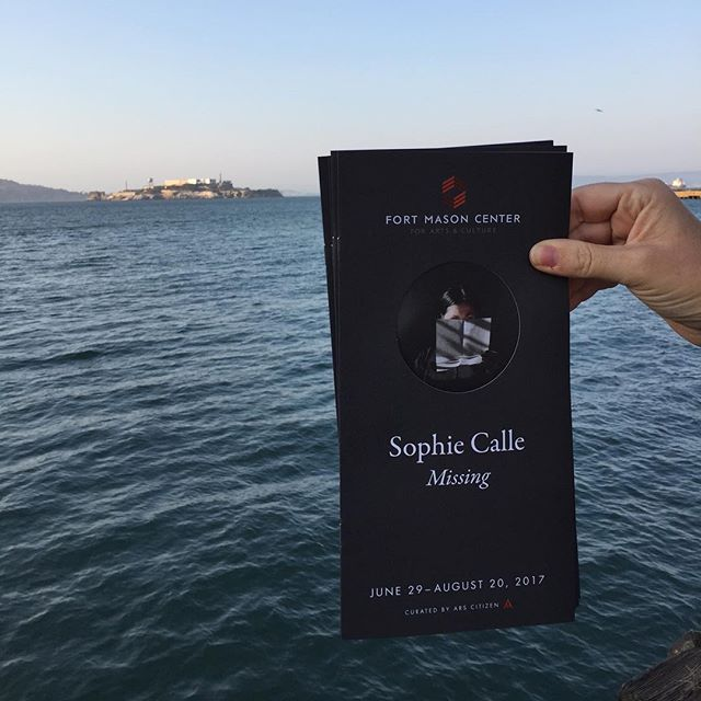 Don't miss the fantastic #sophiecalle exhibition at Fort Mason closing August 20th. Not a bad place to spend the afternoon either.