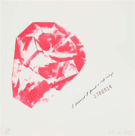 I dreamed I found a red ruby (2780014), Jonathan Borofsky, lithograph.