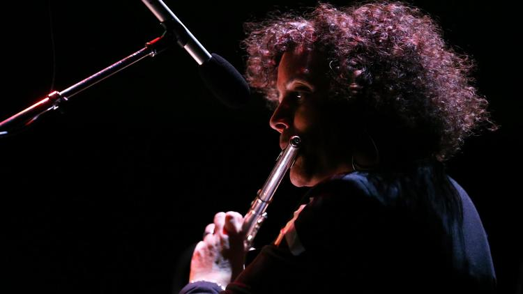 Flutist Nicole Mitchell performs at the MCA Chicago on Saturday, May 2, 2015. (Chris Sweda /  Chicago Tribune )