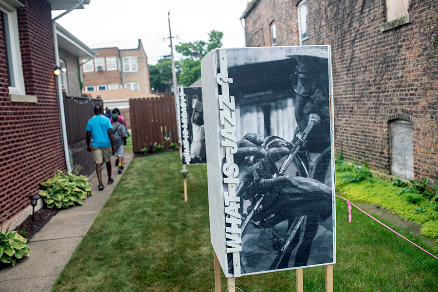 In the late 1950s, '60s and '70s, residents of Chicago's South Side neighborhoods would spend Sunday afternoons gathered in alleyways to listen to live music from local and visiting jazz musicians jamming together. On July 14, a one-day event reignited that tradition to bring the neighborhood together again.